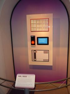 Replica of HAL 9000. The computer of 2001 A space odisey movie. Source Wikimedia. Photo credit: Photojunkie