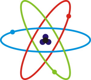 Schematicky Atom. Credit Wikimedia Commons