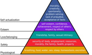 Maslow's Pyramid. Photo Credit Wikimedia Commons