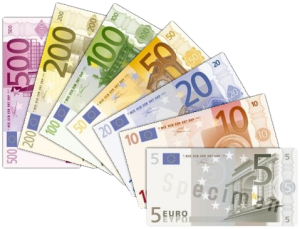 Euro Banknotes. Photo Credit Wikimedia Commons