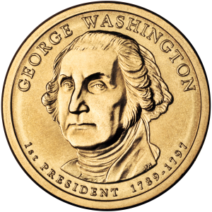 George Washington Presidential $1 coin. Photo Credit Wikimedia Commons