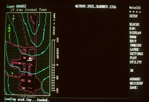 A view of a computer map enhancement display aboard the amphibious assault ship USS PELELIU (LHA 5) during PACEX '89. Photo Credit: US Navy
