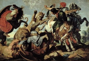 La chasse au lion by Rubens. Credit: Public Domain