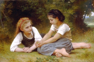 The Nut Gatherers by William Adolphe Bouguereau