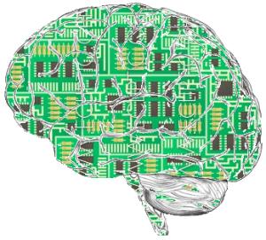 A computer as a brain